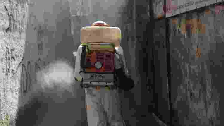 Sanitização no Morro do Preventório, em Niterói (RJ) - Berg Silva / Prefeitura de Niterói - Berg Silva / Prefeitura de Niterói