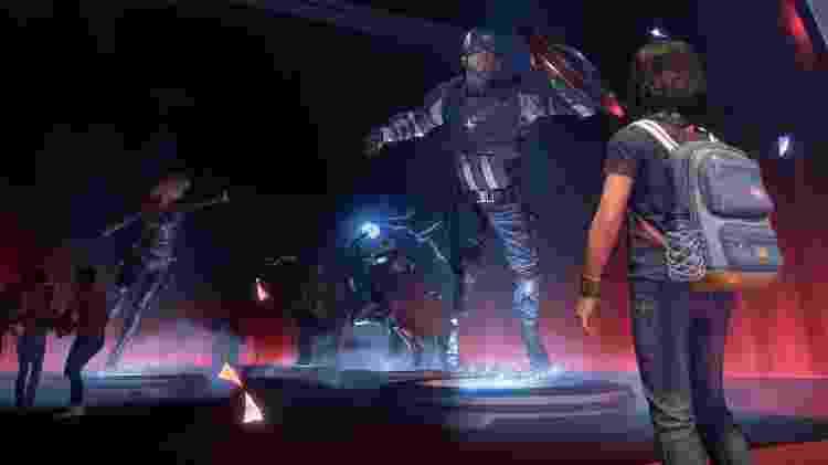 Game Vingadores exibição estatuas - Reprodução/Bruno Izidro - Reprodução/Bruno Izidro