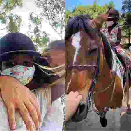 Giovanna Ewbank mostra Titi e Bless andando a cavalo - Reprodução / Instagram