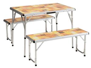 Conjunto mesa e bancos dobráveis - Divulgação - Divulgação