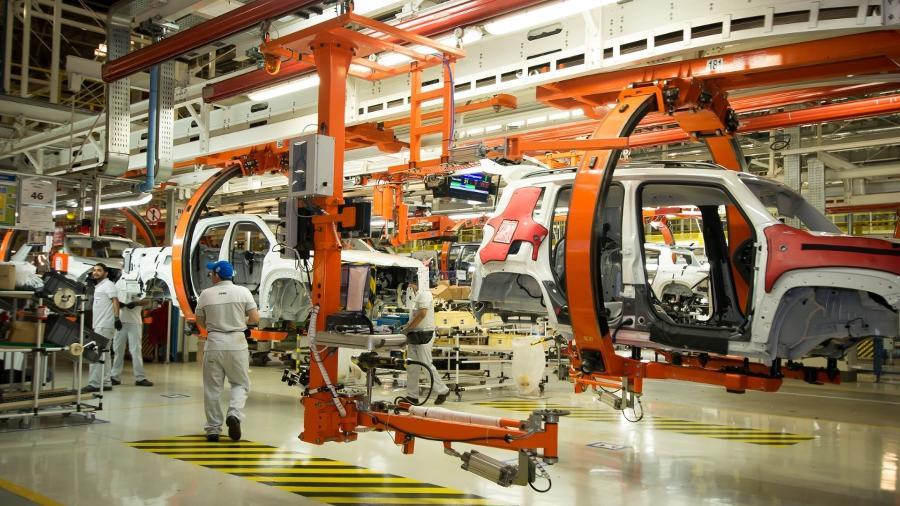 Linha de produção da Fiat em Goiana (PE) - Divulgação