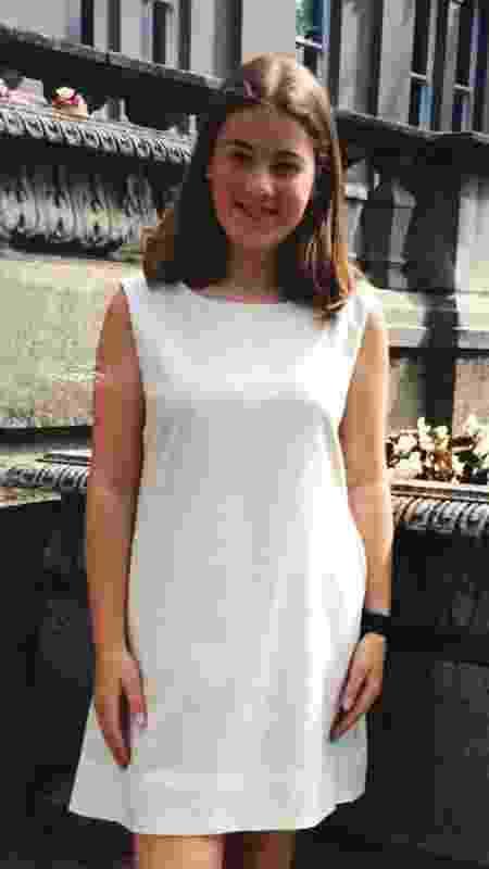 Sarah aos 12 anos - Arquivo pessoal/BBC - Arquivo pessoal/BBC