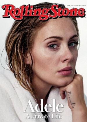 """Adele sem maquiagem na """"Rolling Stone"""" - Reprodução/site Rolling Stone"""