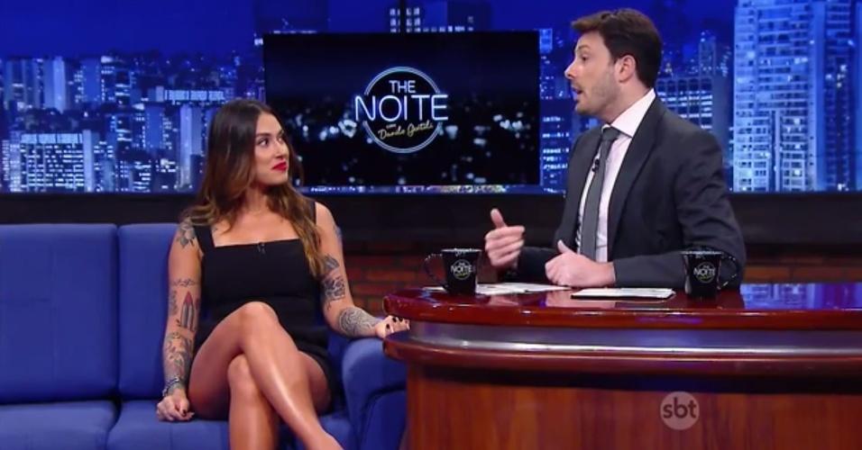 """4.out.2015 - Em entrevista ao """"The Noite"""", Dani Bolina diz que gostaria de voltar a trabalhar no """"Pânico"""""""
