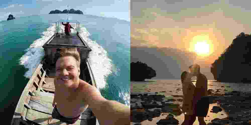 29.jan.2015 - Michel Teló e Thais Fersoza seguem tirando onda nas férias, nos cenários paradisíacos da Tailândia - Reprodução/Instagram/micheltelo