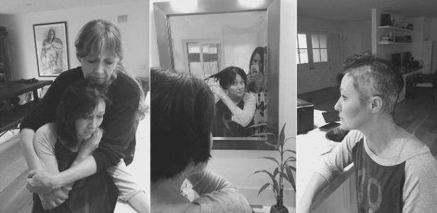 Com câncer de mama, Shannen Doherty publicou fotos raspando o cabelo - Montagem/Reprodução/Facebook/Shannen Doherty
