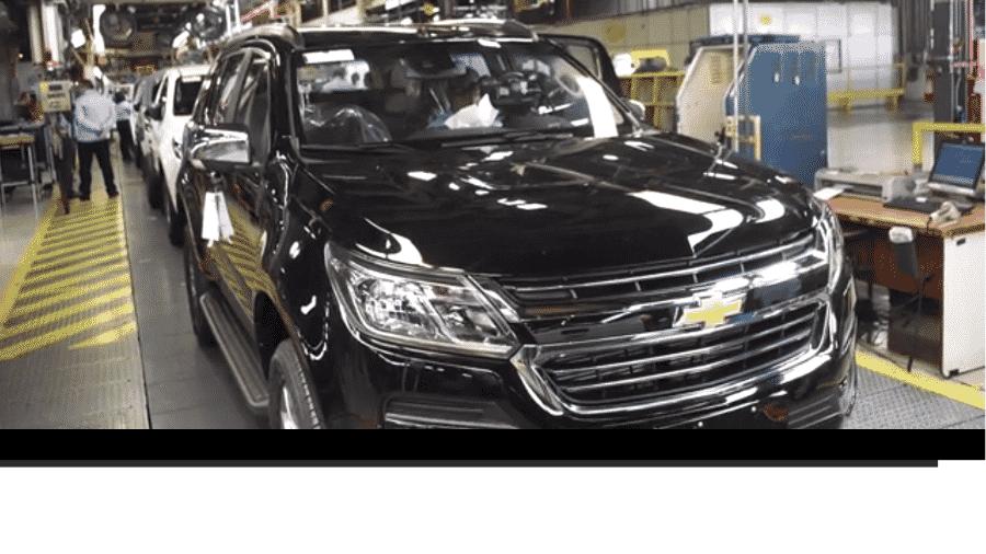 Linha da Chevrolet S10 na fábrica de São José dos Campos da GM - Reprodução