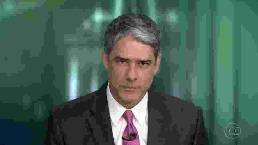 """William Bonner retorna ao """"Jornal Nacional"""" após dez dias - Reprodução/TV Globo"""