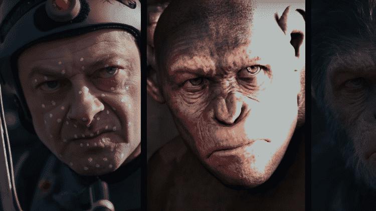 """Efeitos visuais em """"Planeta dos Macacos: A Guerra"""" - Reprodução/YouTube - Reprodução/YouTube"""