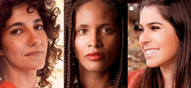 Antonia Pellegrino, Djamila Ribeiro e Nathalia Borges - Reprodução