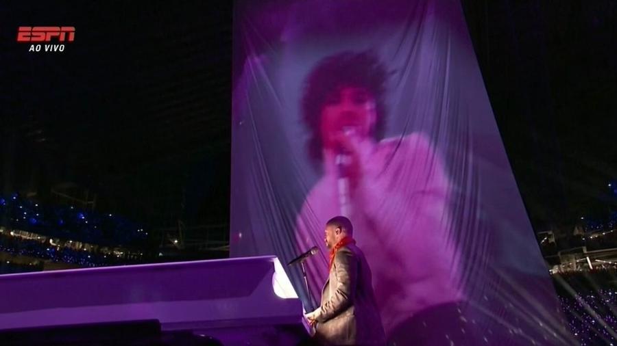 Justin Timberlake homenageia Prince no Super Bowl - Reprodução/ESPN