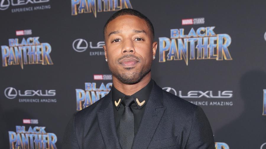 "Michael B. Jordan na pré-estreia de ""Pantera Negra"", em Los Angeles - Jesse Grant/Getty Images for Disney"