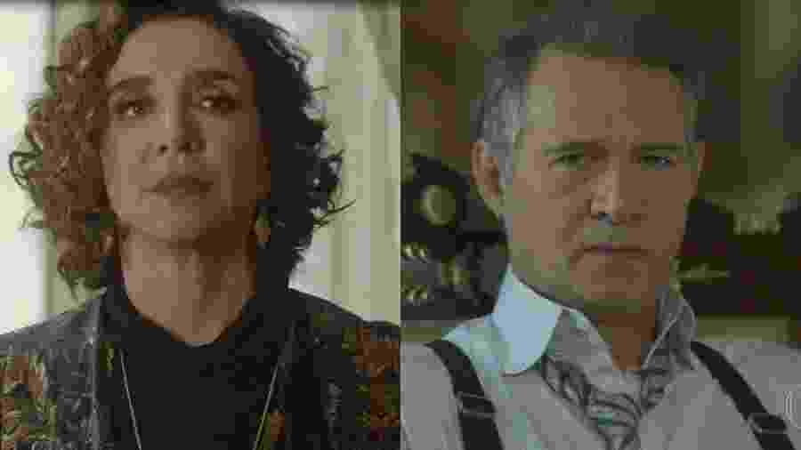 Marisa Orth e Nelson Freitas deixaram a comédia de lado na novela das seis - Reprodução/Gshow/Montagem UOL
