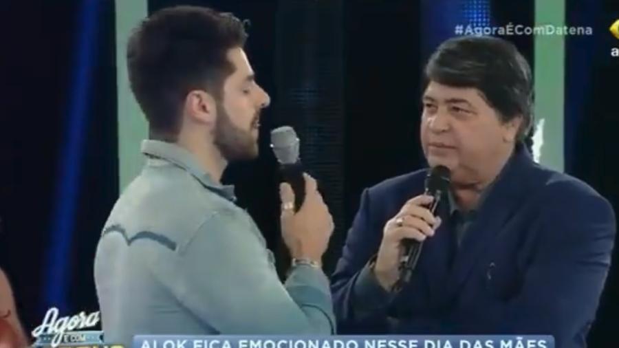"""Datena entrevistou Alok no """"Agora é com Datena"""" - Reprodução/Band/Twitter"""