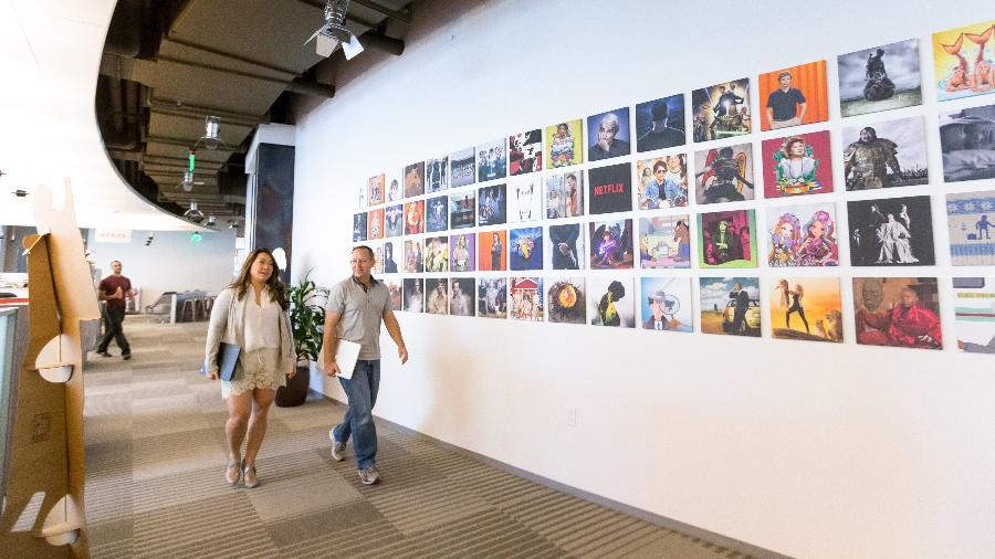 Corredor do escritório da Netflix em Los Gatos - Divulgação/Netflix