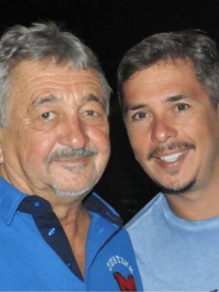 Ivan Moré com o pai, que também se chamava Ivan Moré - Reprodução/Instagram