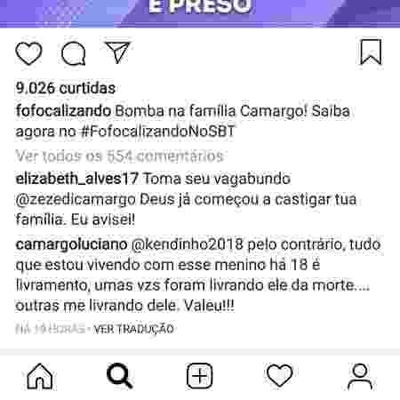 Luciano critica o filho - Reprodução/Instagram - Reprodução/Instagram