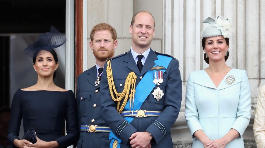 Os duques de Cambridge, William e Kate, e os duques de Sussex, Harry e Meghan - Getty Images