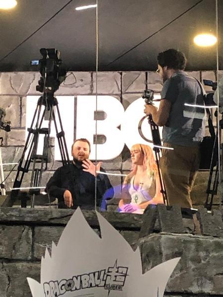 John Bradley (Samwell Tarly) e Maisie Williams (Arya Stark) na CCXP 2018 - Beatriz Amêndola/UOL