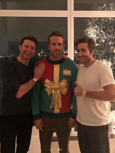 Hugh Jackman, Ryan Reynolds e Jake Gyllenhaal - Reprodução/Instagram