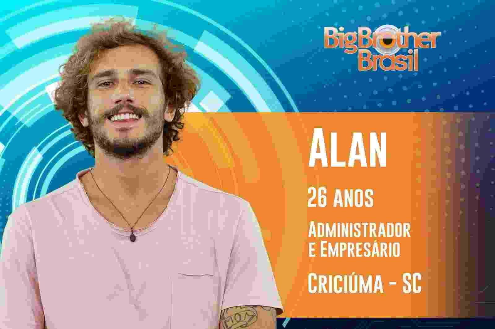 """Alan é o primeiro participante anunciado do """"BBB19"""" - Reprodução/TVGlobo"""