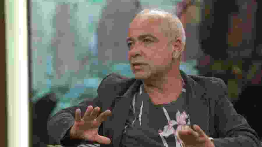 """O ator Claudio Manoel em entrevista ao """"Conversa com Bial"""" - Reprodução/Globo"""