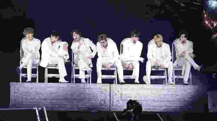 """BTS se apresenta pela turnê """"Love Yourself: Speak Yourself"""" no estádio do Allianz Parque, em São Paulo - BigHit Entertainment/Divulgação - BigHit Entertainment/Divulgação"""