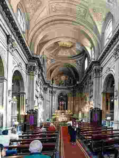 O precórdio dos papas fica no interior da Chiesa dei Santi Vincenzo e Anastasio a Trevi - peizais/Getty Images