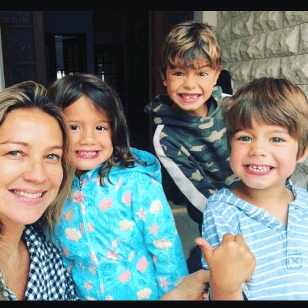 Luana Piovani com os filhos, Liz, Dom e Bem: piolhos - Reprodução/Instagram