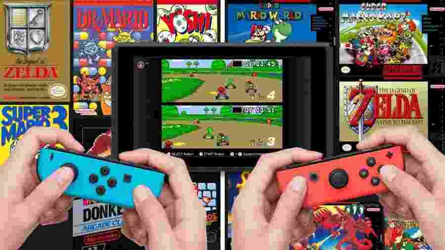 Capa Nintendo Switch e SNES - Reprodução