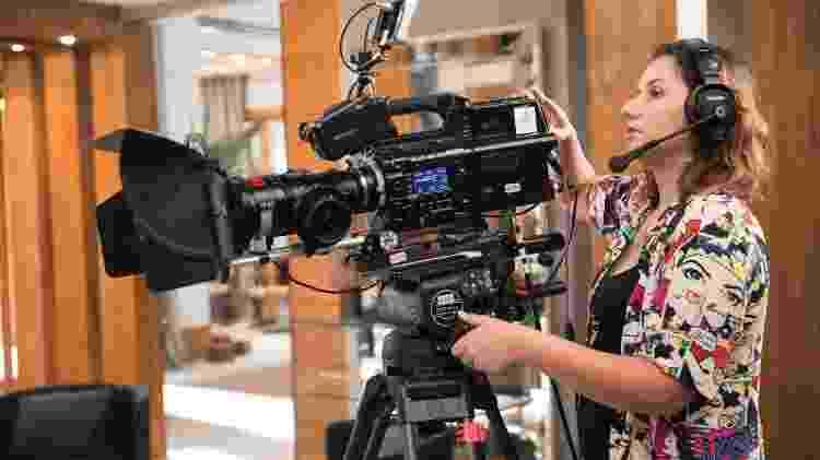 Thalissa Oz. é operadora de câmera há sete anos - João Miguel Junior/Globo - João Miguel Junior/Globo
