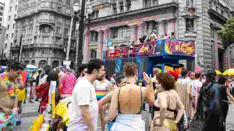 """Blocu desfila pelo centro de São Paulo um ano após o caso do """"golden shower"""" - DANILO M YOSHIOKA/FUTURA PRESS/FUTURA PRESS/ESTADÃO CONTEÚDO - DANILO M YOSHIOKA/FUTURA PRESS/FUTURA PRESS/ESTADÃO CONTEÚDO"""
