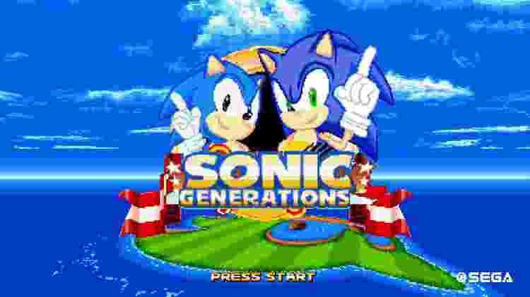 Sonic tela inicial - Reprodução/gamebanana.com - Reprodução/gamebanana.com