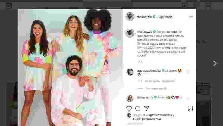 THAI2 - Instagram/Reprodução - Instagram/Reprodução