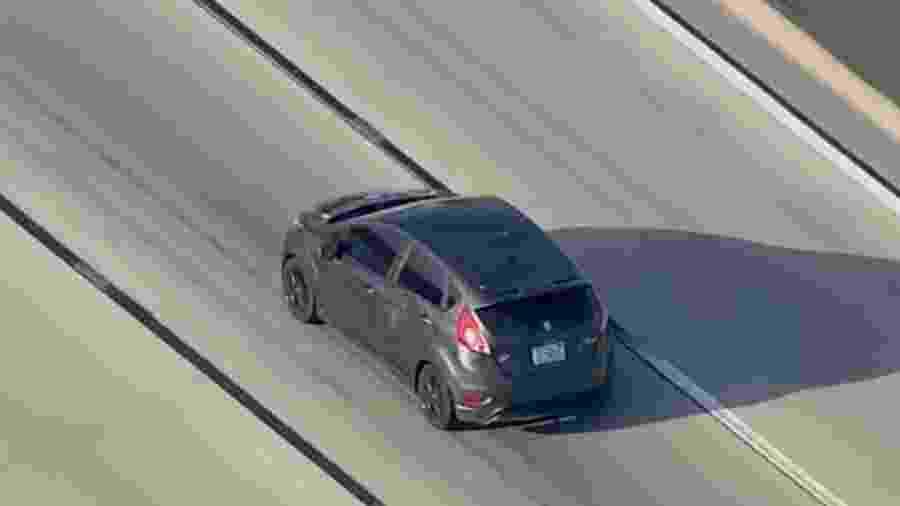 Ford Fiesta é perseguido em Los Angeles - Reprodução