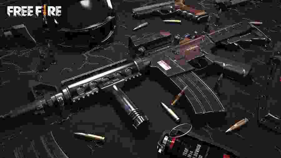 A MP40 é uma submetralhadora com a maior cadência de disparos dentre todas as armas do Free Fire, conheça mais sobre ela - Divulgação/Garena