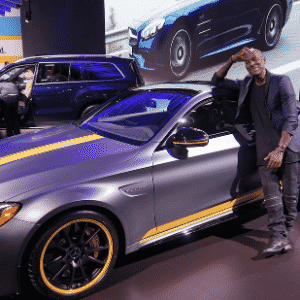 Mercedes-AMG C63 S Coupe Edition 1 e ator Tyrese Gibson - Twitter/Reprodução