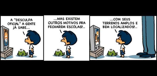Tirinha do personagem Armandinho, criado pelo catarinense Alexandre Beck - Reprodução