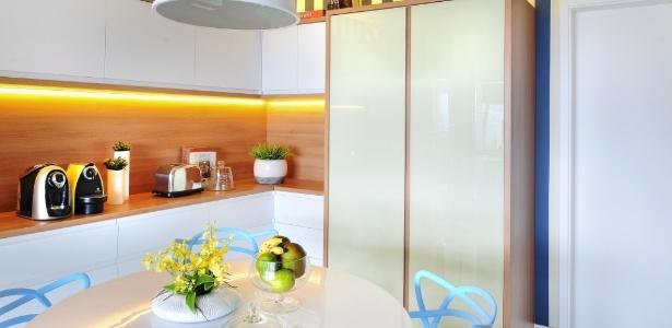 A copa, projetada por Ana Yoshida, tem cores suaves e aconchegantes e luz calorosa - Divulgação