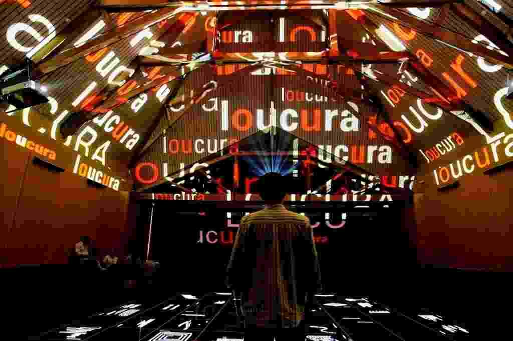 13.mar.2006 - Imagem da Praça da Língua, localizada no terceiro andar do Museu da Língua Portuguesa - Lalo de Almeida/Folhapress