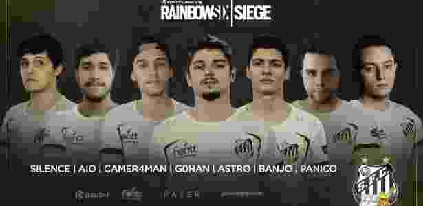 Equipe de PC de Rainbow Six Siege da Santos Dexterity, que vai para o mundial no Canadá - Reprodução