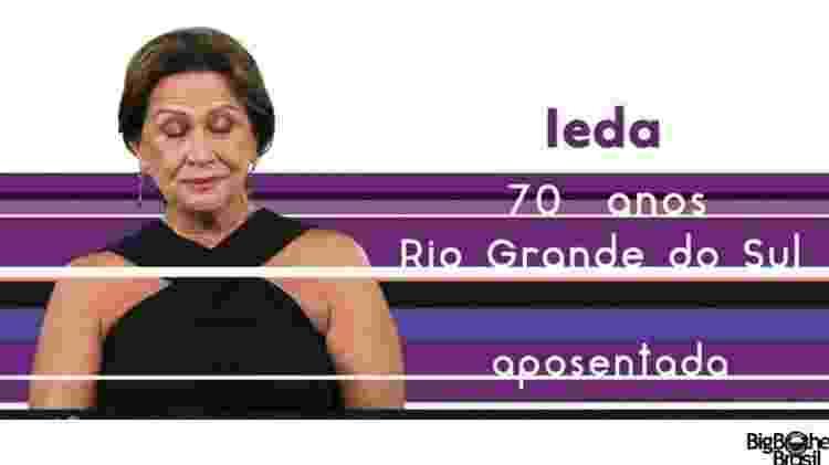 """Ieda """"BBB17"""" - Reprodução/TV Globo - Reprodução/TV Globo"""