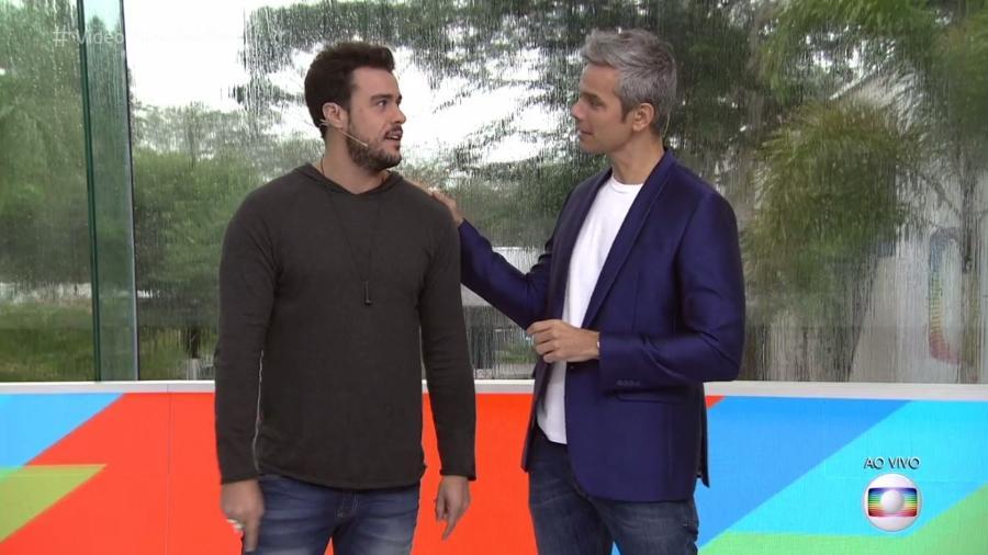 """Joaquim Lopes é corrigido por Otaviano Costa no """"Vídeo Show"""" - Reprodução/TV Globo"""