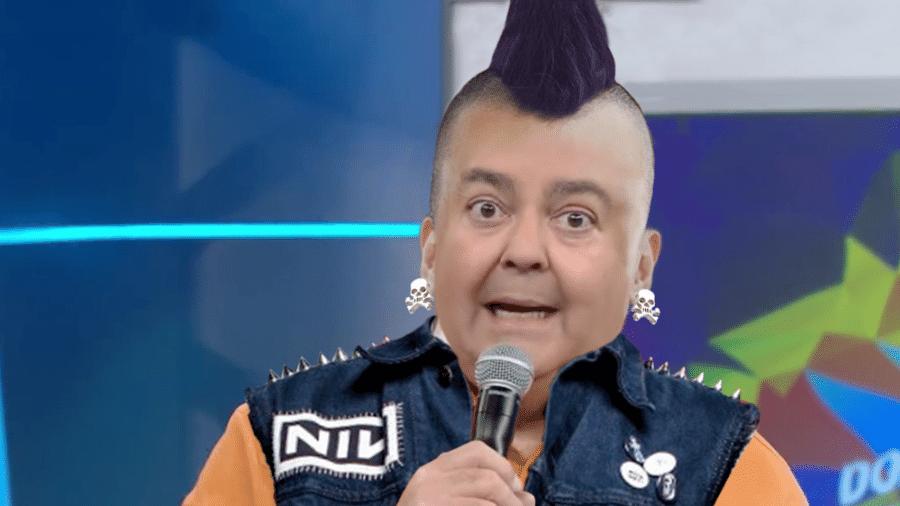 """""""Anarquia, meu!"""" E se o Faustão fosse vocalista de banda de punk/hardcore? - Arte/UOL"""