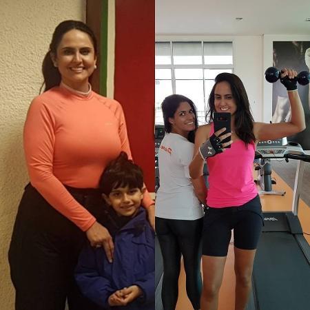 Carla Cecato se compara com foto acima do peso - Reprodução/carlacecato