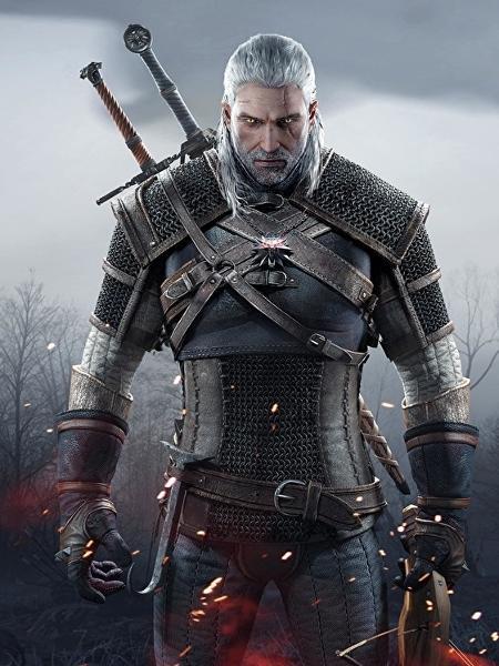 """Geralt de Rívia, protagonista do game """"The Witcher"""" - Reprodução"""