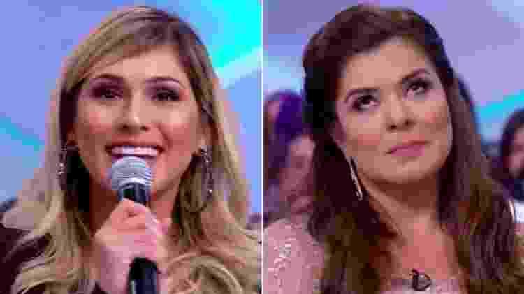 """Lívia Andrade rebate provocação de Mara Maravilha no """"Programa Silvio Santos"""" - Reprodução/SBT - Reprodução/SBT"""