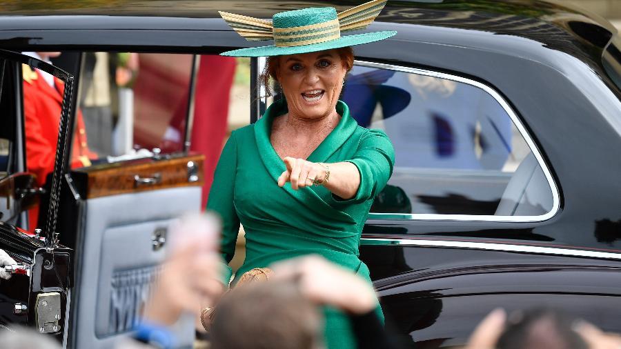 Sarah, a duquesa de York, mãe da princesa Eugenie, que se casou nesta sexta (12) em Windsor - Getty Images