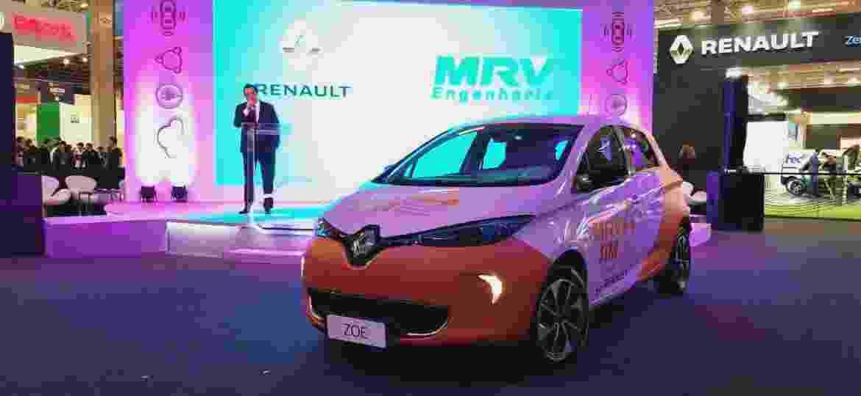 Renault Zoe que será usado em projeto piloto de carros elétricos para condomínios populares - Eugênio Augusto Brito/UOL