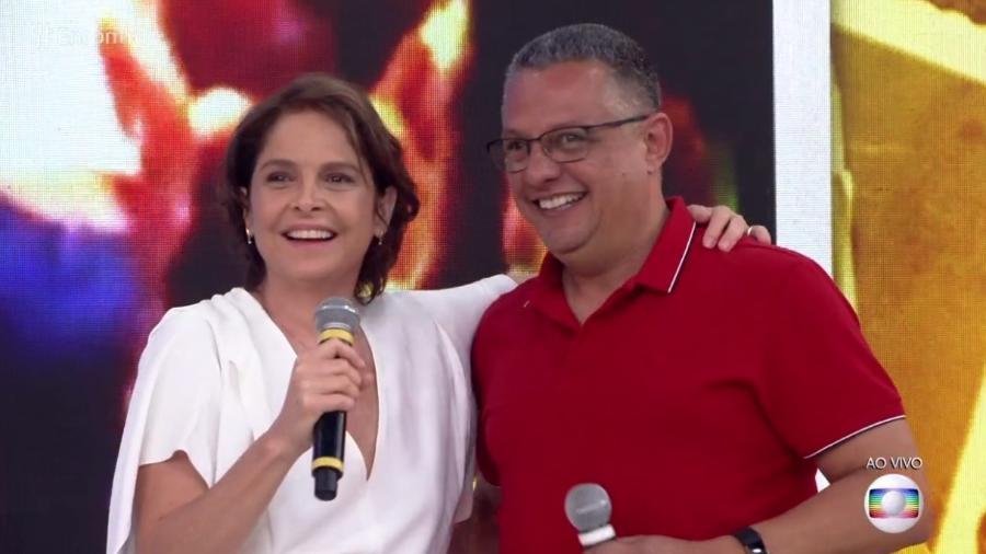 Drica Moraes reencontra seu primeiro namorado  - Reprodução/Globo